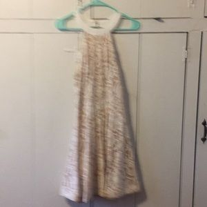 Cream and Beige lace short dress